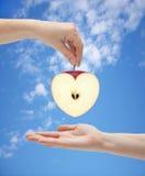 Coração de Apple Foto de Stock