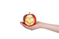 Coração de Apple Fotografia de Stock Royalty Free