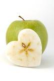 Coração de Apple fotografia de stock