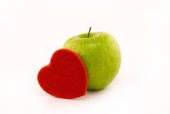 Coração de Apple fotos de stock