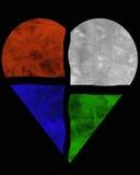 Coração de Batic Imagem de Stock