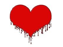 Coração de Blooding Imagem de Stock