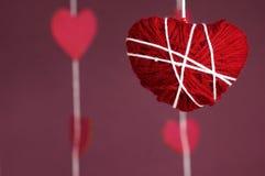 Coração de confecção de malhas Fotos de Stock Royalty Free