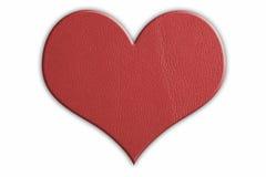 Coração de couro Fotografia de Stock