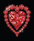 Coração de cristal brilhante do amor Imagem de Stock Royalty Free