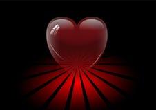 Coração de cristal transparente Imagens de Stock
