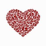 Coração de diamantes brilhantes Ilustração do vetor no fundo branco Imagem de Stock