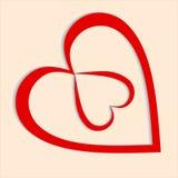 Coração de dois amantes Fotografia de Stock