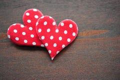 Coração de dois vermelhos Imagem de Stock Royalty Free