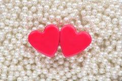 Coração de dois vermelhos Foto de Stock Royalty Free