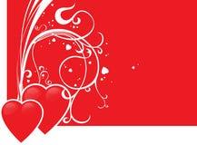 Coração de dois vermelhos Fotos de Stock