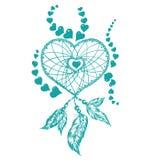 Coração de Dreamcatcher Fotos de Stock Royalty Free