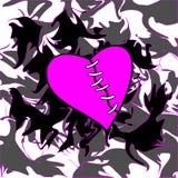 Coração de Emo no fundo Imagem de Stock