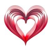 Coração de fitas vermelhas Fotografia de Stock