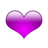 Coração de Fucsia [01] Foto de Stock Royalty Free