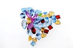 Coração de gemas luxuosas Foto de Stock Royalty Free