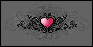 Coração de Grunge ilustração do vetor