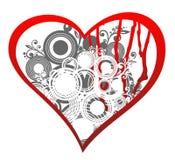 Coração de Grunge ilustração royalty free