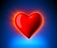 Coração de incandescência ilustração royalty free