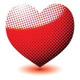 Coração de intervalo mínimo do amor ilustração stock