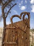 Coração de madeira imagem de stock royalty free