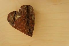 Coração de madeira Foto de Stock Royalty Free