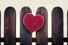 Coração de madeira Imagem de Stock