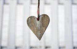 Coração de madeira Imagens de Stock Royalty Free