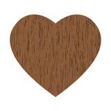 Coração de madeira Imagens de Stock