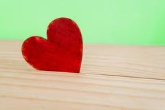 Coração de madeira Foto de Stock