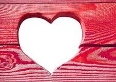 Coração de madeira cor-de-rosa. imagem de stock royalty free