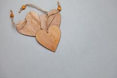 coração de madeira para o amor Fotografia de Stock Royalty Free