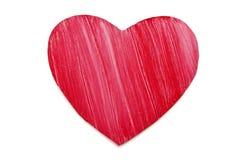 Coração de madeira pintado imagem de stock royalty free