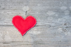 Coração de matéria têxtil Fotografia de Stock Royalty Free