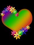 Coração de néon Foto de Stock Royalty Free