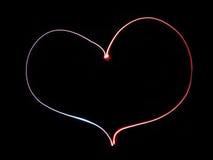 Coração de néon Fotos de Stock Royalty Free