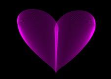 Coração de néon cor-de-rosa Imagem de Stock Royalty Free