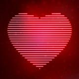 Coração de néon do ícone ilustração stock