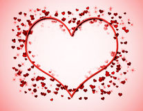 Coração de néon na cor-de-rosa Ilustração do Vetor