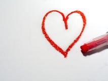Coração de Oilpastel ilustração stock