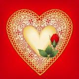 Coração de ouro Foto de Stock Royalty Free