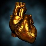 Coração de ouro Fotografia de Stock Royalty Free