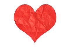 Coração de papel amarrotado Imagem de Stock Royalty Free