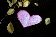 Coração de papel cor-de-rosa imagem de stock royalty free