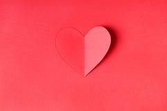 Coração de papel de Origami Imagem de Stock