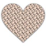 Coração de papel floral Imagem de Stock Royalty Free