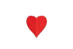 Coração de papel isolado Imagem de Stock Royalty Free