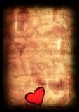 Coração de papel velho do Valentim Fotos de Stock