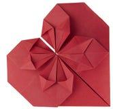 Coração de papel vermelho Imagens de Stock