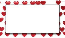 Coração de papel vermelho que pendura na corda fotos de stock royalty free